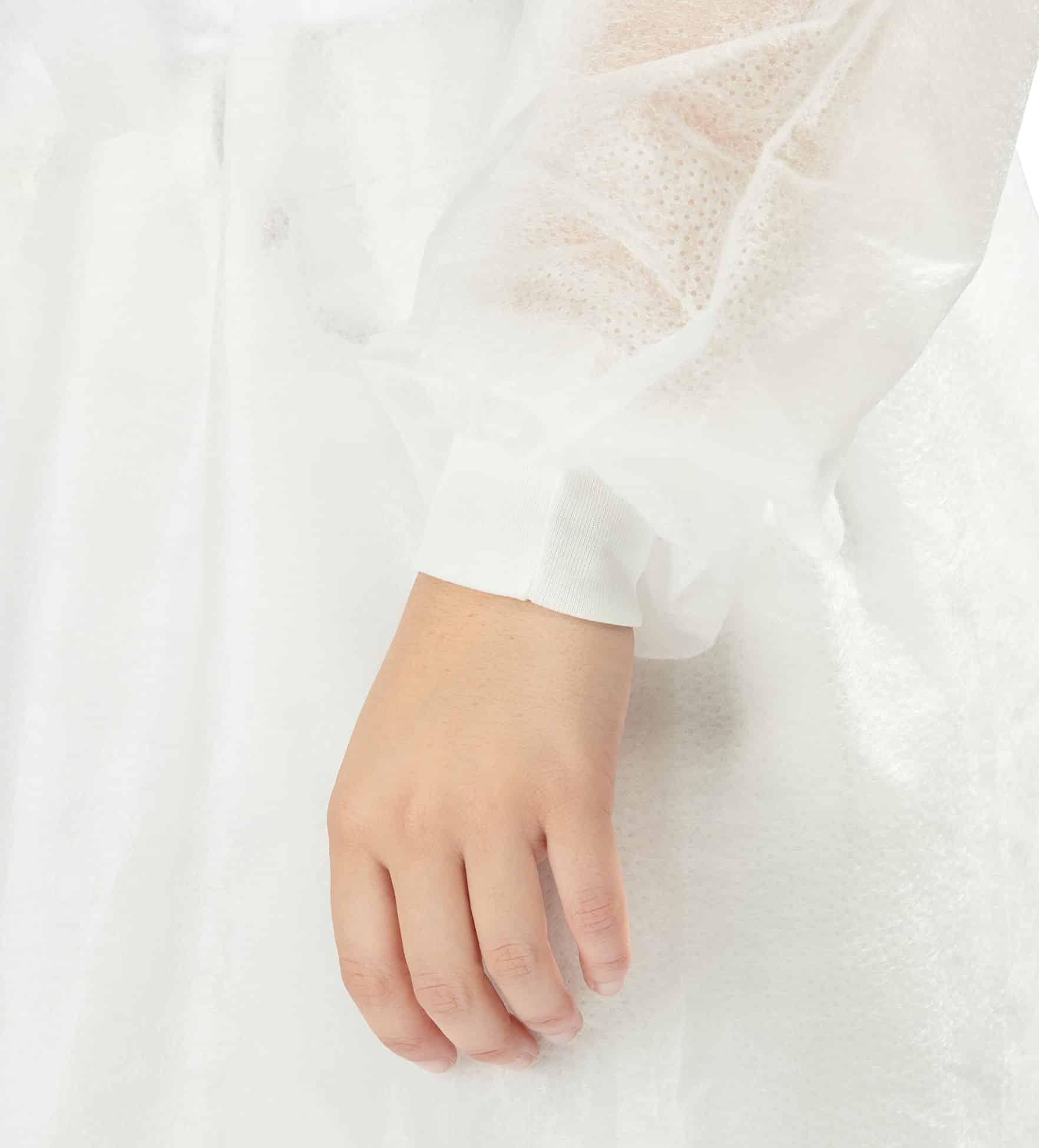 batas hidrófugas 25g 10 - 25g water repellent gowns - clothe protect