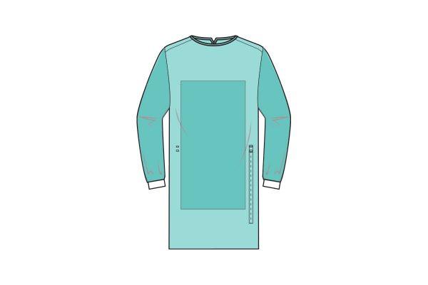 batas hidrófugas estéreis de bloco operatório reforçada, com punhos em malha e fecho com atilhos - sterile and water repellent gowns - clothe protect