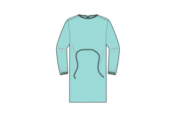 batas impermeáveis com punho elástico e fecho com atilhos - waterproof gowns - clothe protect