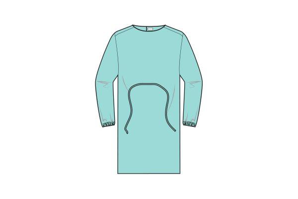 batas impermeáveis com punho elástico e fecho em velcro - waterproof gowns - clothe protect