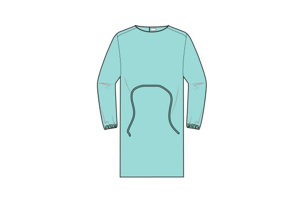 batas impermeáveis com punho elástico e fecho em velcro. Costuras seladas por ultrassom - waterproof gowns - clothe protect